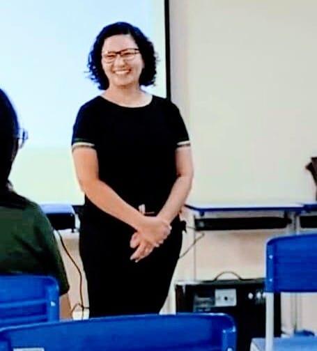 Secretária de Educação, Alcineide Borba.
